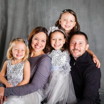 Kate Walski, owner of 307 Events, and Family