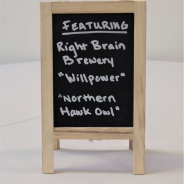 Small Tabletop Chalkboard Easel