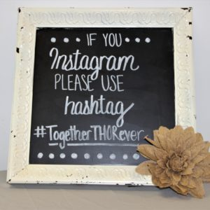 Square, Cream Colored Rustic Chalkboard