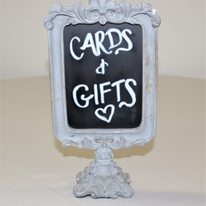 Small Tabletop Chalkboard with detailed Stand