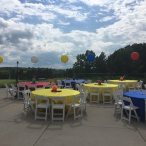 Beach Themed Event with Primary Colors