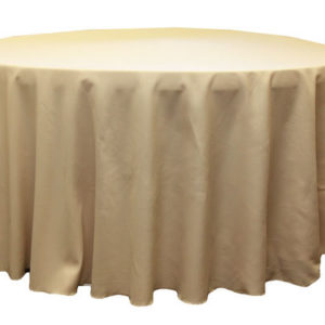 champagne 120 polyester linen