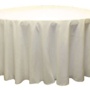 Ivory Polyester Linen