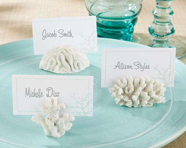 Coral Place Card Holder