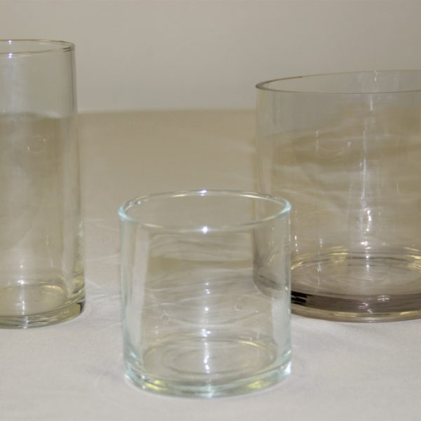 Glass Cylinders Shorter Various