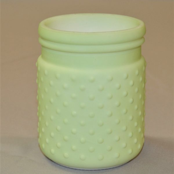 Lime Green Small Vase or Candle Holder with Bumps on Side