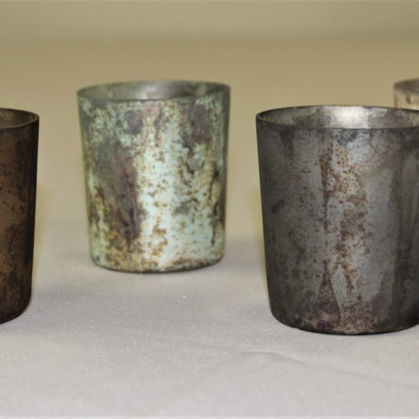 Distressed Candle Holders Mutliple Colors