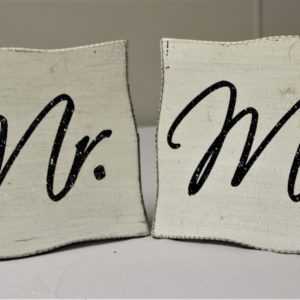 Mr and Mrs Hanging Signs