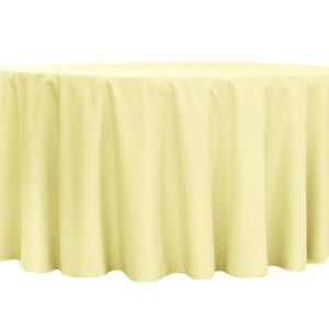 Pastel Yellow Polyester Linen
