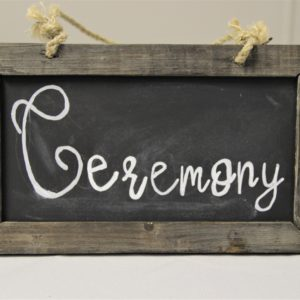 Rectangular hanging Chalkboard small