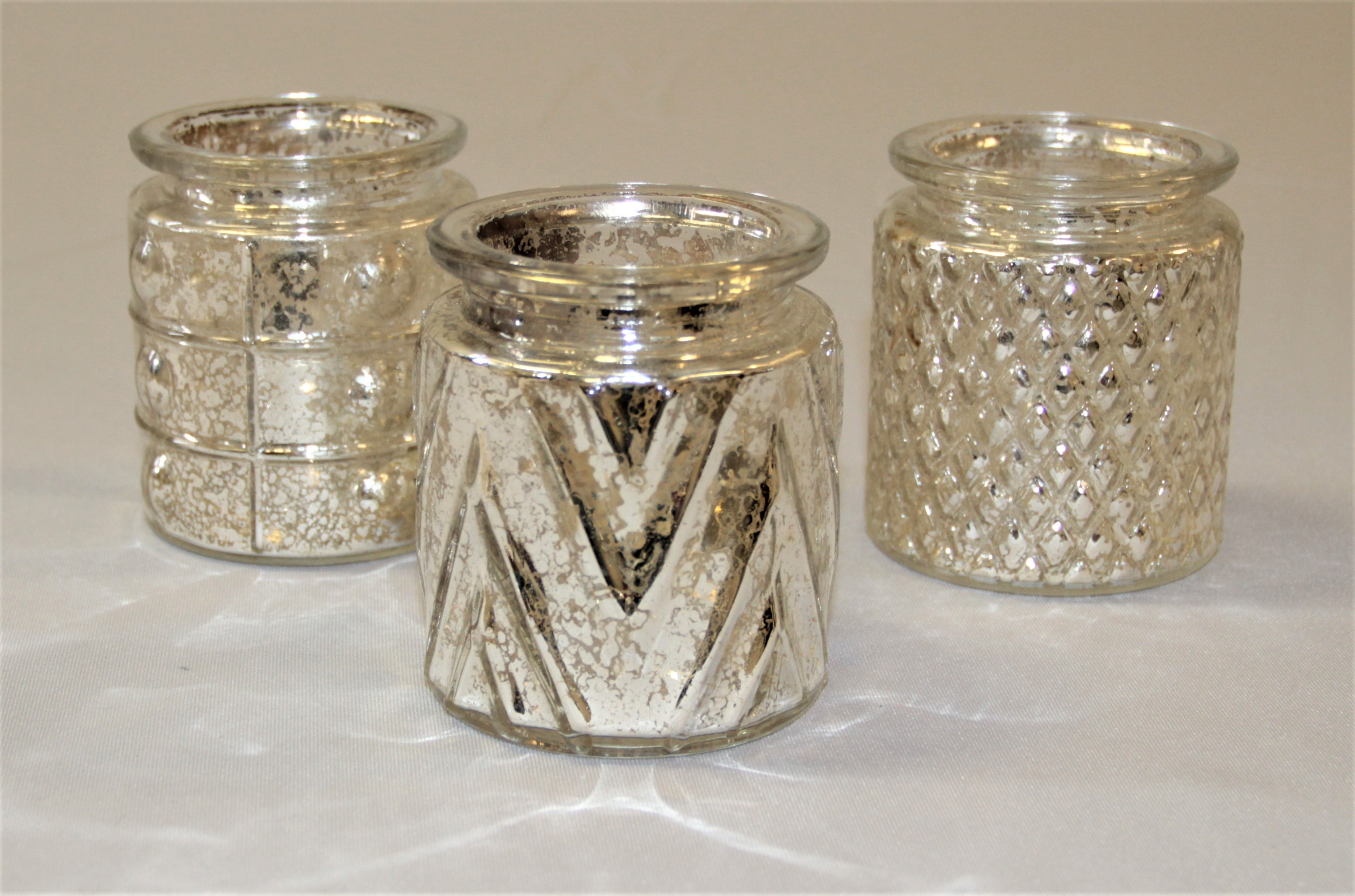 gold mercury glass candle holders - Gold Candle Holders