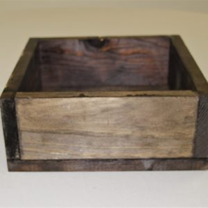 Square Wood Box