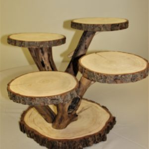 Wood Slice Multilevel stand