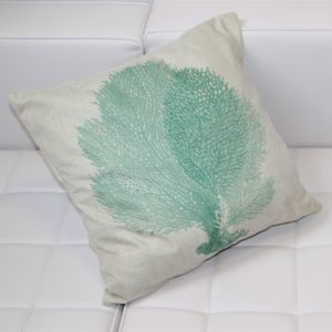 Pillow with Green Coral Image