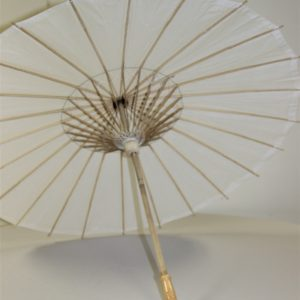 White Paper Umbrella Interior