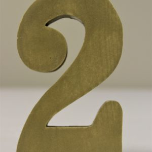 Wood Gold Numbers 2