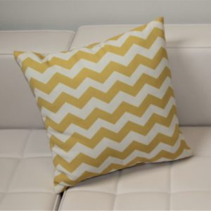 Pillow with Yellow Chevron Pattern