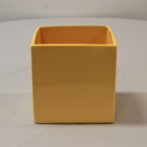 Square Yellow Vase