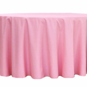 Pink Polyester Linen