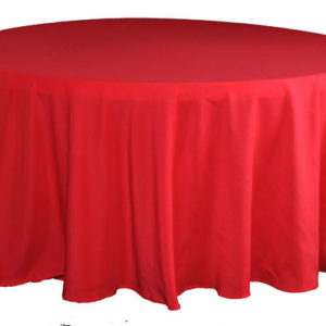 Red Polyester Linen