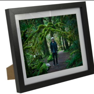 8x10 Black Photo Frames with Dual-Sided Easel Stand