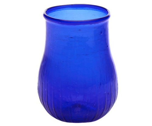 Cobalt Glass Bad Vase