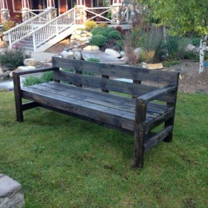 Rustic Outdoor Wooden Seating
