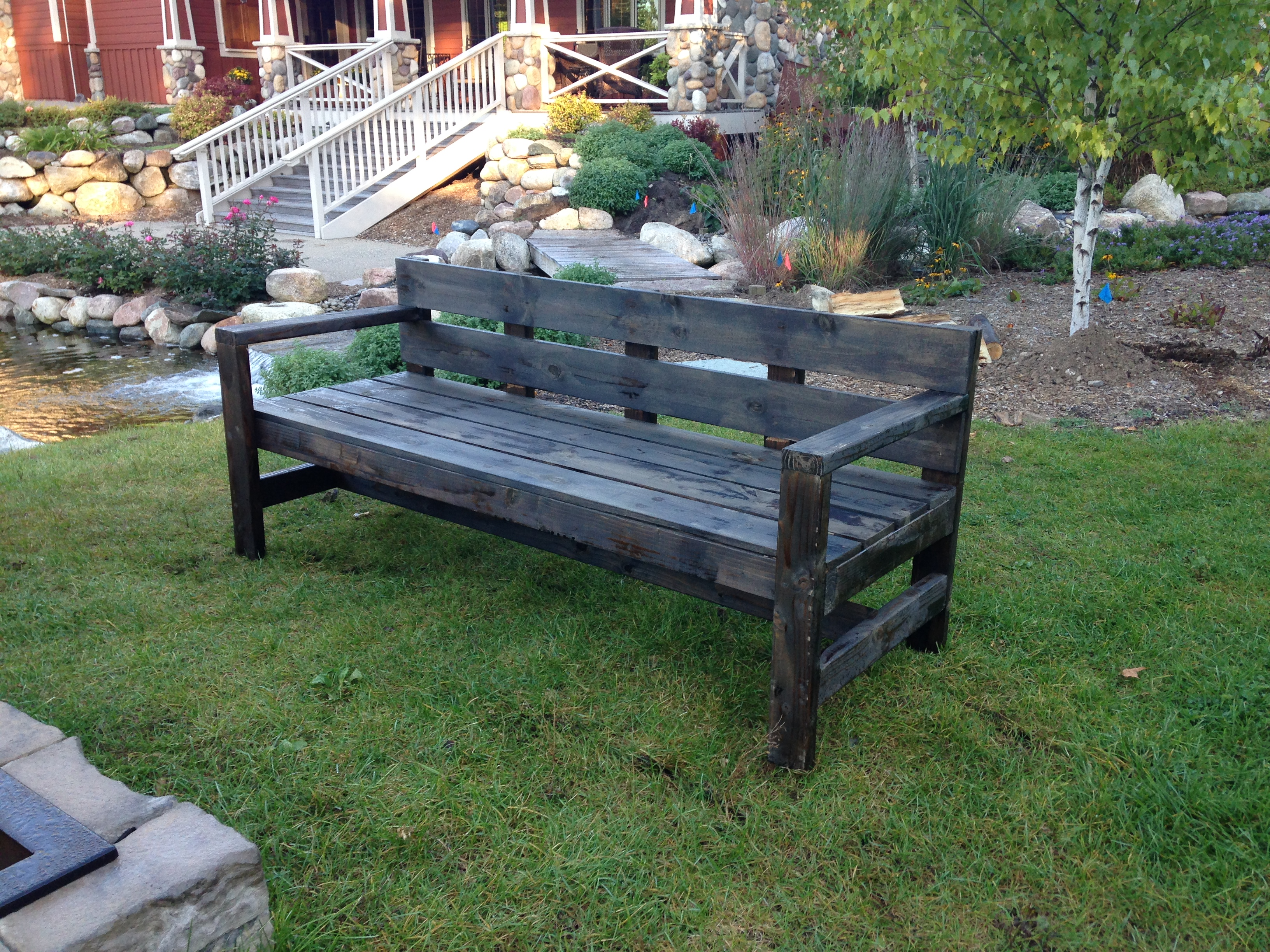 Outdoor wood bench 307 events for Outdoor hardwood timber