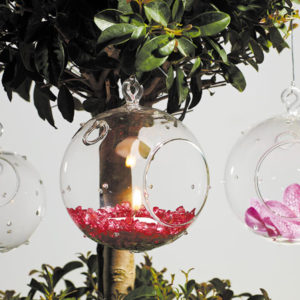 Pointelle Hanging Glass Candle Holders