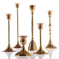 Brass Candlestick Set