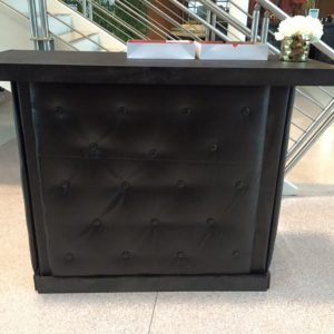 4' Black Tufted Bar