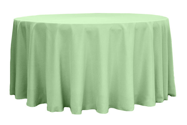 Polyester is an efficient and economical choice for a tablecloth; it can easily be used at weddings, trade shows, showrooms, events, or even your home! Made from % tough polyester, our tablecloths are a durable material that is easy to maintain.