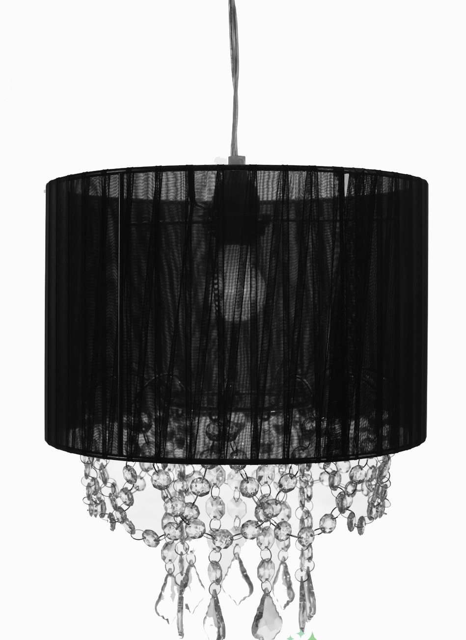 chandelier with black fabric shade 307 events and tents. Black Bedroom Furniture Sets. Home Design Ideas