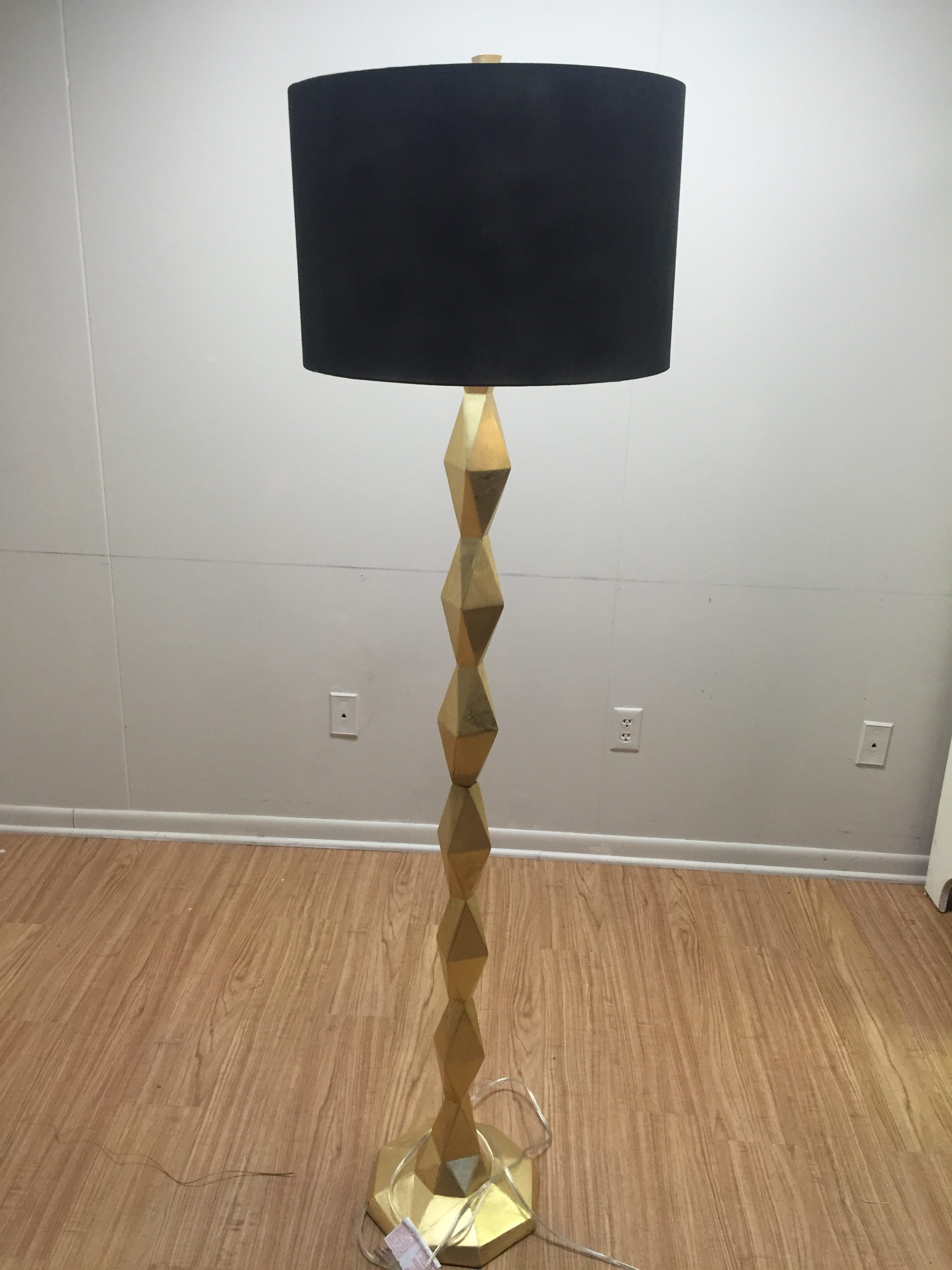 Gold Floor Lamp With Black Shade